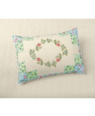 CLOSEOUT! Cotton Coneflower Diamond Quilted Standard Sham, Created for Macy's