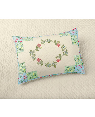 CLOSEOUT! Martha Stewart Collection Cotton Coneflower Diamond Quilted Standard Sham, Created for Macy's