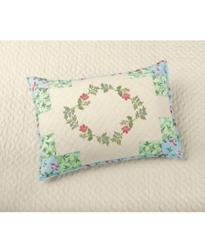 Closeout! Martha Stewart Collection Cotton Coneflower Diamond Quilted Standard Sham, Created for Macy's 4396278
