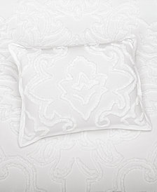 Martha Stewart Collection Wooster  100% Cotton Tufted-Chenille Standard Sham, Created for Macy's