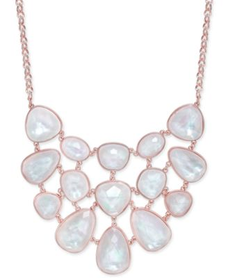 Image of Charter Club Glossy Stone Statement Necklace, Only at Macy's