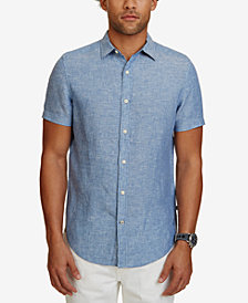 Nautica Men's Classic-Fit Linen Short-Sleeve Shirt