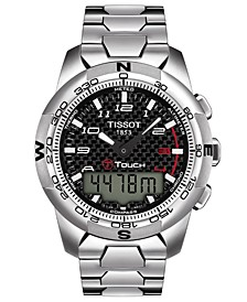 Men's Swiss T-Touch II Polished Titanium Bracelet Watch 43.3 x 42.7mm