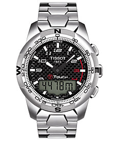 Tissot Men's Swiss T-Touch II Polished Titanium Bracelet Watch 43.3 x 42.7mm