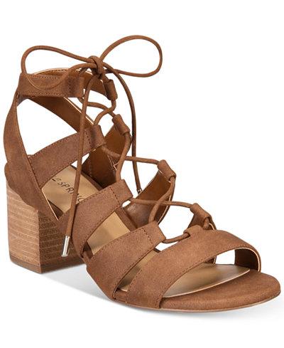 Call It Spring Ereissa Block-Heel Lace-Up Sandals