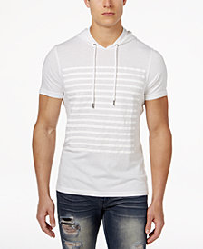I.N.C. Men's Striped Short-Sleeve Hoodie, Created for Macy's