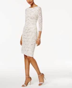 Jessica Howard Sequined Lace Sheath Dress 4545248
