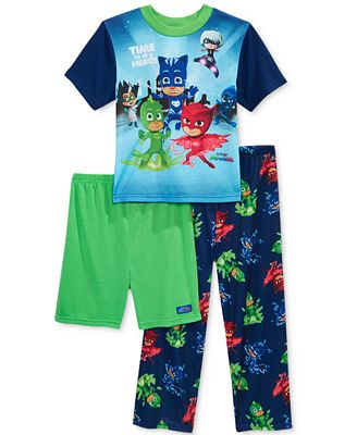 3-Pc. PJ Masks Pajama Set, Little Boys (2-7) & Big Boys (8-20)