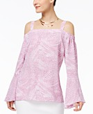 Thalia Sodi Printed Cold-Shoulder Top Created for Macys