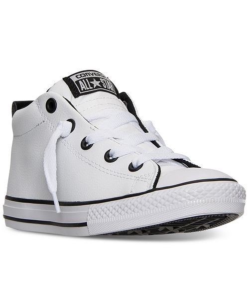 8036be5d6c48 ... Converse Boys' Chuck Taylor All Star Street Mid Casual Sneakers from  Finish ...
