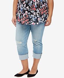 Medium Wash Cropped Jeans