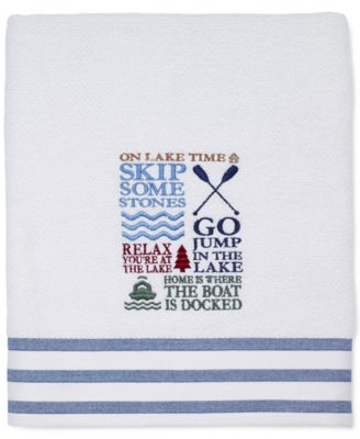 "Lake Words 27"" x 52"" Bath Towel"