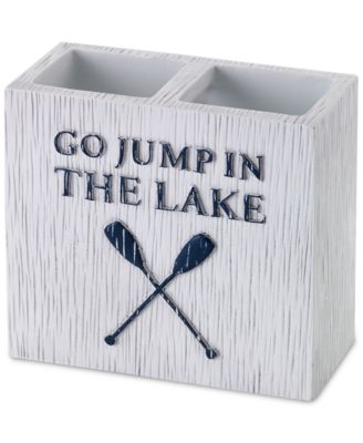 Lake Words Toothbrush Holder