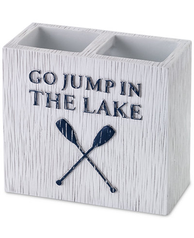 Avanti Lake Words Toothbrush Holder