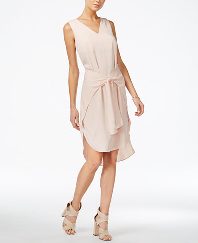 Bar III Tie-Front Shift Dress, Created for Macy's