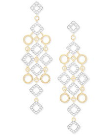 Wrapped in Love Diamond Chandelier Earrings (1 ct. t.w.) in 14k Gold, Created for Macy's