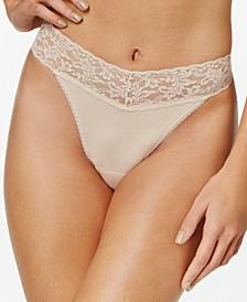 Organic Cotton Original-Rise Lace-Waist Thong 891801