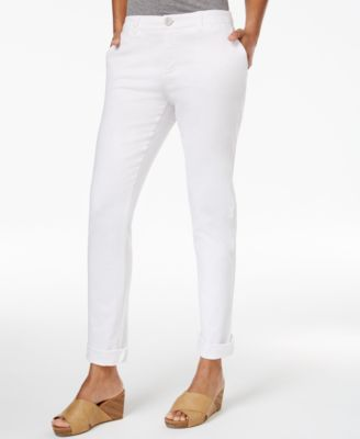 Image of Style & Co. Chino Boyfriend Pants, Only at Macy's
