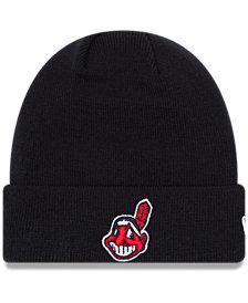 New Era Cleveland Indians Basic Cuffed Knit Hat
