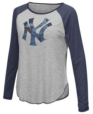 Touch by Alyssa Milano Women's New York Yankees Line Drive Long Sleeve T-Shirt