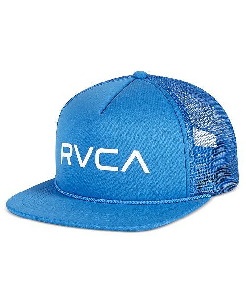 dc7b3c70203610 RVCA Men's Foamy Trucker Cap & Reviews - Hats, Gloves & Scarves ...