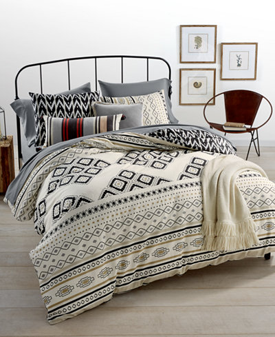 whim by martha stewart collection nomad reversible 3 pc full queen duvet set created for macy. Black Bedroom Furniture Sets. Home Design Ideas