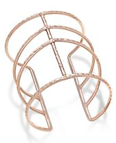 INC International Concepts Rose Gold-Tone Open Cuff Bracelet, Created for Macy's