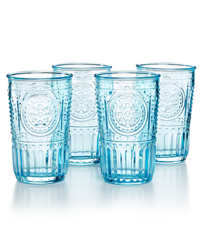 Bormioli Rocco Romantic 4 Pc Tumbler Set Glassware