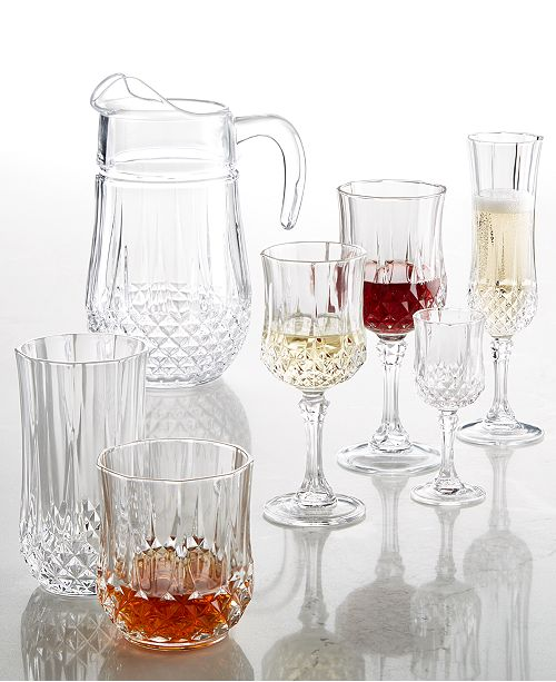 Longchamp Cristal D Arques Glassware Collection Amp Reviews Glassware Dining Macy S