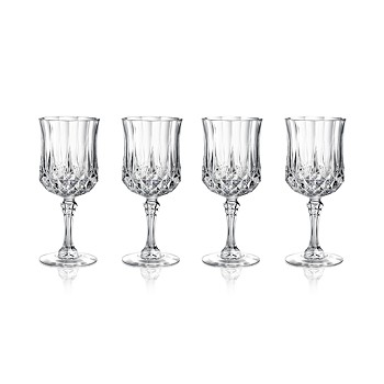 4-Set Longchamp Cristal DArques Cordial Glasses