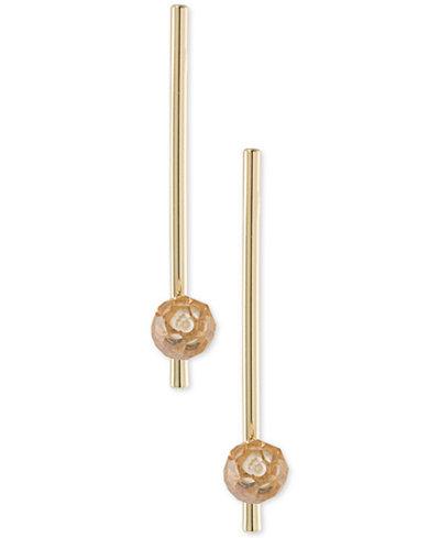 ABS by Allen Schwartz Gold-Tone Stone Bar Linear Drop Earrings