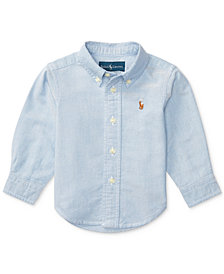 Ralph Lauren Solid Oxford Shirt, Baby Boys