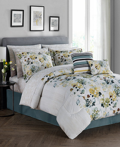 CLOSEOUT! Alexis Reversible 12-Pc. Comforter Sets - Bed in a Bag ...