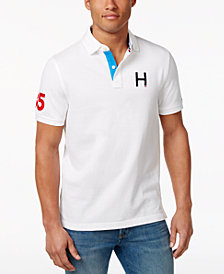 Tommy Hilfiger Men's Flanders H Logo Custom Fit Polo