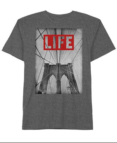 Hybrid Men's LIFE Brooklyn Graphic-Print Cotton T-Shirt