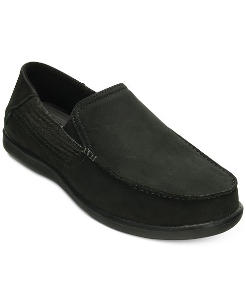 a62ef471e Crocs Men s Santa Cruz 2 Luxe Leather Slip-On Loafers   Reviews ...