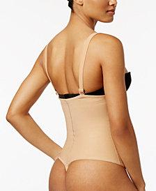 Leonisa Women's  Firm Tummy-Control Thong-Style Bodysuit 018677N