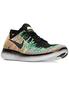 Nike Big Boys'   Free Run Flyknit 2017 Running Sneakers from Finish Line
