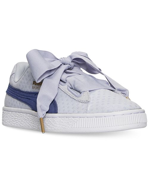 a7cea97b63ed ... Puma Women s Basket Heart Denim Casual Sneakers from Finish ...