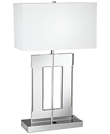 Pacific Coast Acrylic Rectangle Table Lamp
