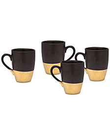 Godinger Golden Onyx 4-Pc. Mug Set