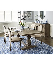 Tristan Trestle Dining 5-Pc. Set (Trestle Dining Table & 4 Side Chairs), Created for Macy's