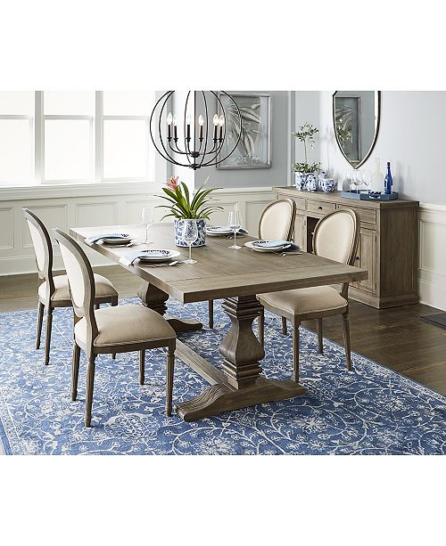 Furniture Tristan Trestle Dining Furniture, 5-Pc. Set (Trestle Dining Table & 4 Side Chairs), Created for Macy's