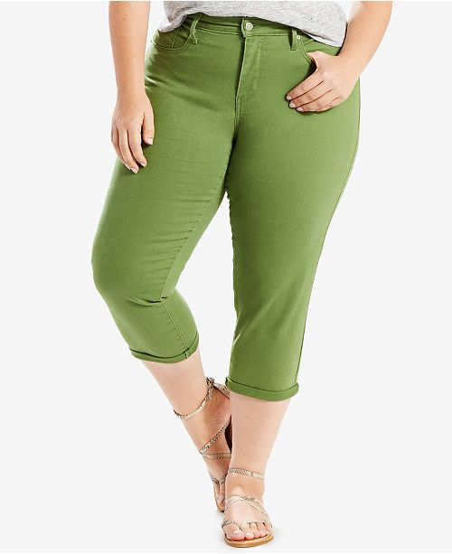 542ca02c19ae8 Levi s Plus Size Shaping Capri Jeans   Reviews - Jeans - Plus Sizes ...