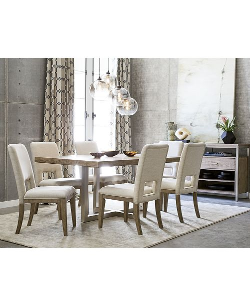 furniture altair dining furniture set 7 pc dining table 6 side