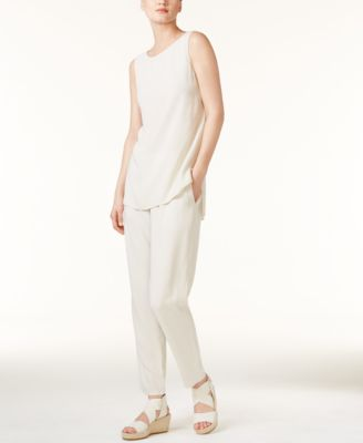 Silk Slouchy Ankle Pants, Regular & Petite