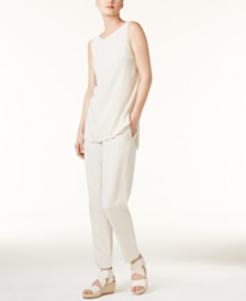 Eileen Fisher SYSTEM High-Low Tunic & Ankle Pants