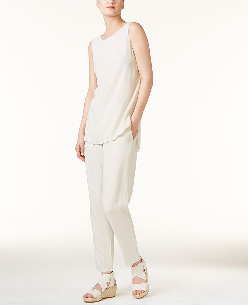 Eileen Fisher High-Low Tunic & Ankle Pants
