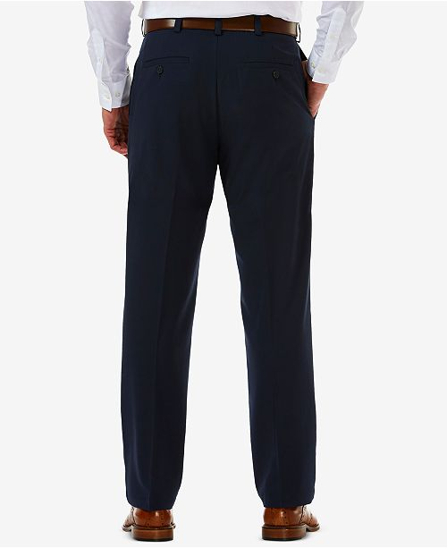 ae2aef2498de3f ... Haggar Men's Cool 18 PRO® Classic-Fit Expandable Waist Flat Front  Stretch ...