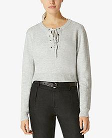 Avec Les Filles Lace-Up Sweater